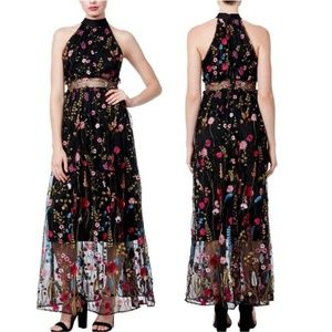 Betsey Johnson All Over Embroidered Floral Dress
